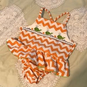 Silly Goose Smocked Whale Sun Suit